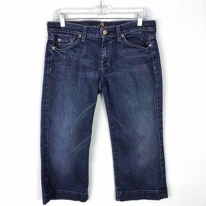 7FAM DOJO Wide Leg Cropped Jeans #385